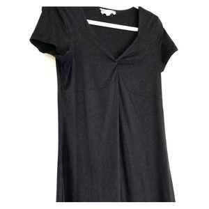 Mini casual black dress